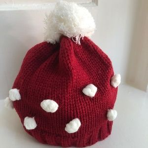 Mud Pie Popcorn Knit Red Hat Size 2T to 5T